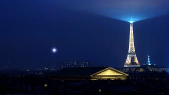 Light eiffel tower paris france europe wallpaper