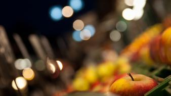 Market urban macro apples wallpaper