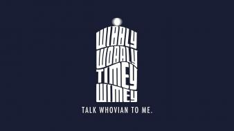 Minimalistic text tardis typography doctor who whovian wallpaper
