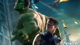 Movies hawkeye jeremy renner the avengers (movie) hulk wallpaper