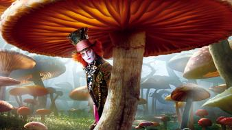 Mushrooms mad hatter johnny depp top hat Wallpaper