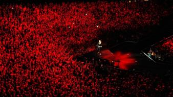 Music red people madonna concert audience wallpaper