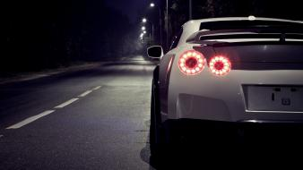 Night cars nissan roads r35 gt-r gtr gtr35 wallpaper
