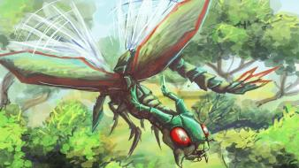 Nintendo pokemon insects flygon wallpaper