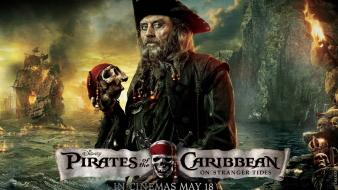 Of the caribbean on stranger tides blackbeard wallpaper