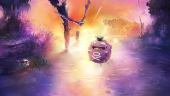 Pokemon landscapes koffing zubat wallpaper