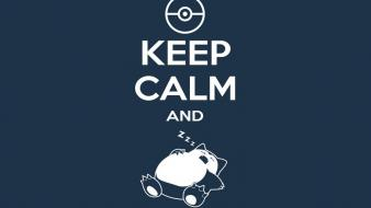 Pokemon snorlax keep calm and wallpaper