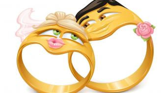 Rings weddings creative wallpaper