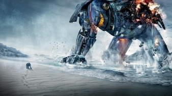 Robots people pacific rim wallpaper