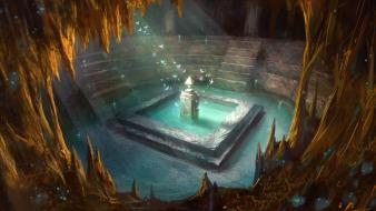 Ruins design fantasy art artwork temple dreaming Wallpaper
