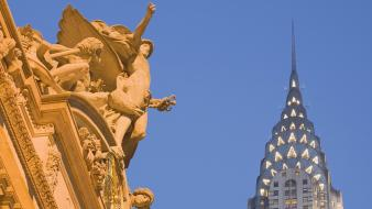 Sculpture grand central station chrysler building york wallpaper
