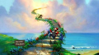 Simpsons awsome sign fun stairway to skies wallpaper