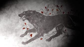 Song ice and fire house stark wolves wallpaper