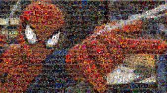 Spider-man mosaic marvel comics comic books wallpaper