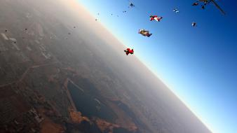 Sports skydiving jump Wallpaper
