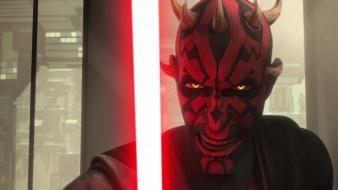 Star wars darth maul sith the clone 2013 wallpaper