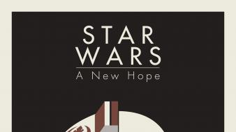 Star wars minimalistic hope posters wallpaper