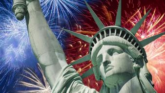 Statue of liberty statues july wallpaper