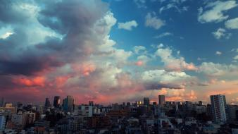 Sunset japan clouds tokyo cityscapes skies wallpaper