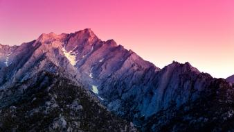Sunset mountains landscapes snow california wallpaper