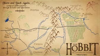 The lord of rings fantasy art maps hobbit wallpaper