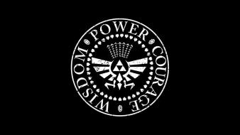 Triforce the legend of black background wisdom Wallpaper