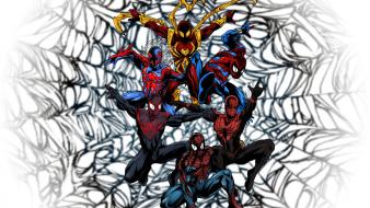 Ultimate miles morales 2099 ben reilly iron wallpaper