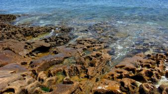 Water nature coast rocks portugal hdr photography sea wallpaper