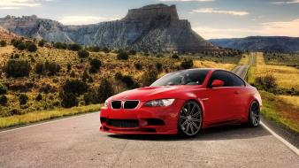 Bmw roads red cars e92 wallpaper
