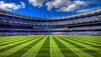 Buildings new york yankees playground baseball field wallpaper