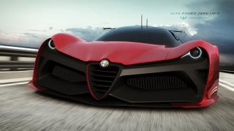Cars alfa romeo render zero lm-c wallpaper