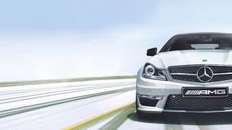 Cars multiscreen mercedes benz c63 amg wallpaper