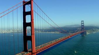 Cityscapes bridges san francisco wallpaper
