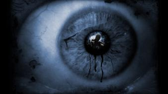 Dark scary darkness eye reflections photoshop scared wallpaper