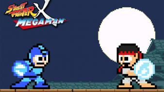 Fighter ryu capcom pixel art rockman megaman Wallpaper