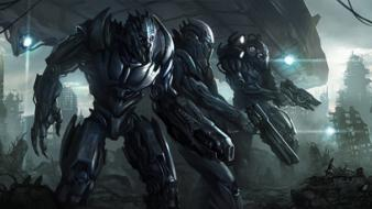 Futuristic future soldier wallpaper