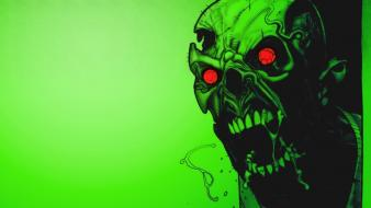 Green horror zombies wallpaper
