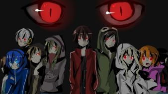Hair red short twintails male kagerou project wallpaper