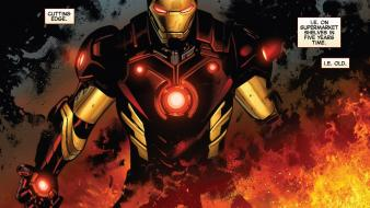 Iron man comics fire marvel now wallpaper