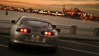 Japan tokyo cityscapes city lights toyota supra mkiv Wallpaper