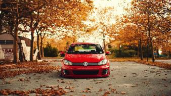 Nature trees cars leaves volkswagen golf r wallpaper