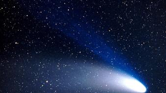 Night stars comet skyscapes skies hale bopp wallpaper