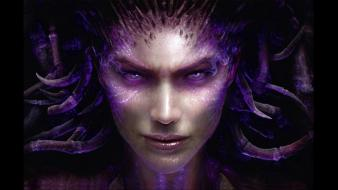 Of swarm sarah kerrigan queen blades faces wallpaper