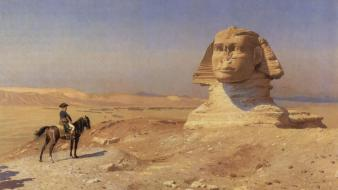 Paintings desert history egypt historical sphinx napoleon Wallpaper