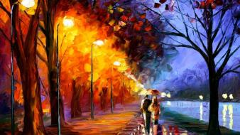 Paintings landscapes leonid afremov wallpaper