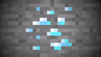 Pixels minecraft sprite diamond wallpaper