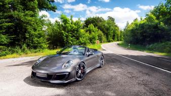 Porsche cars roads vehicles gemballa cabrio wallpaper