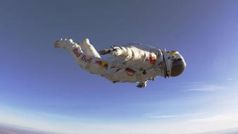 Red bull felix baumgartner stratos free fall Wallpaper