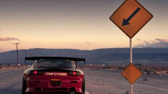 Roads tuning tuned mazda rx7 road sign Wallpaper
