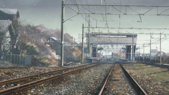 Shinkai railroad tracks 5 centimeters per second wallpaper